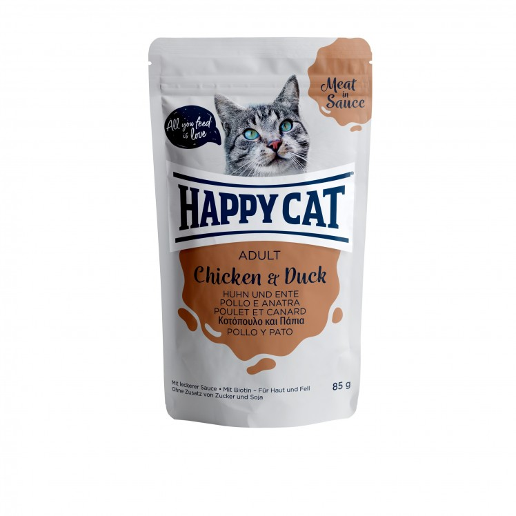 Happy Cat Pouch Adult Huhn & Ente (Carne en Salsa)