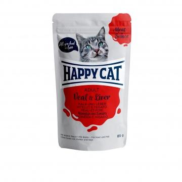 Happy Cat Pouch Adult Kalb & Leber (Carne en Salsa)