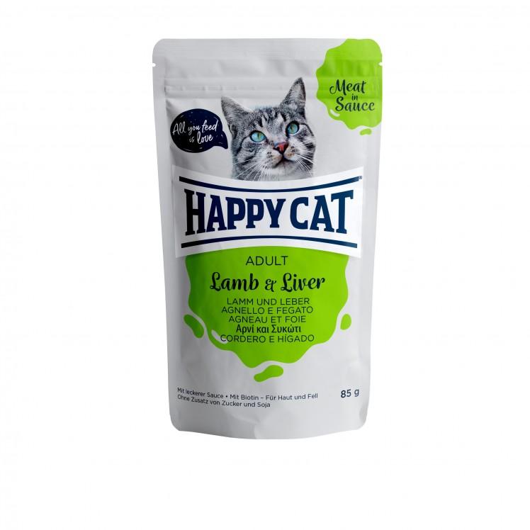 Happy Cat Pouch Adult Lamm & Leber (Carne en Salsa)