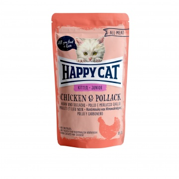Happy Cat Pouch Junior Huhn & Seelachs (100% Carne)