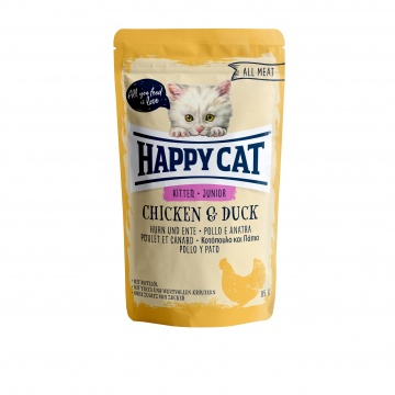 Happy Cat Pouch Junior Huhn & Ente (100% Carne)