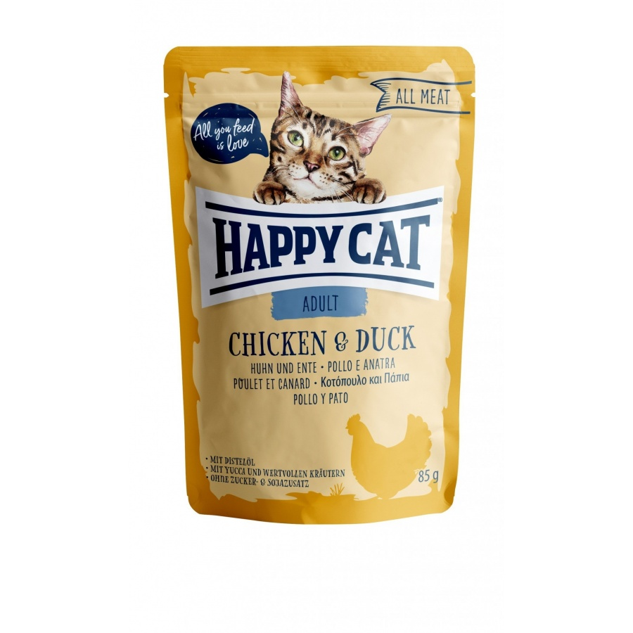 Happy Cat Pouch Adult Huhn & Ente (100% Carne)