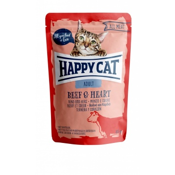 Happy Cat Pouch Adult Rind & Herz (100% Carne)